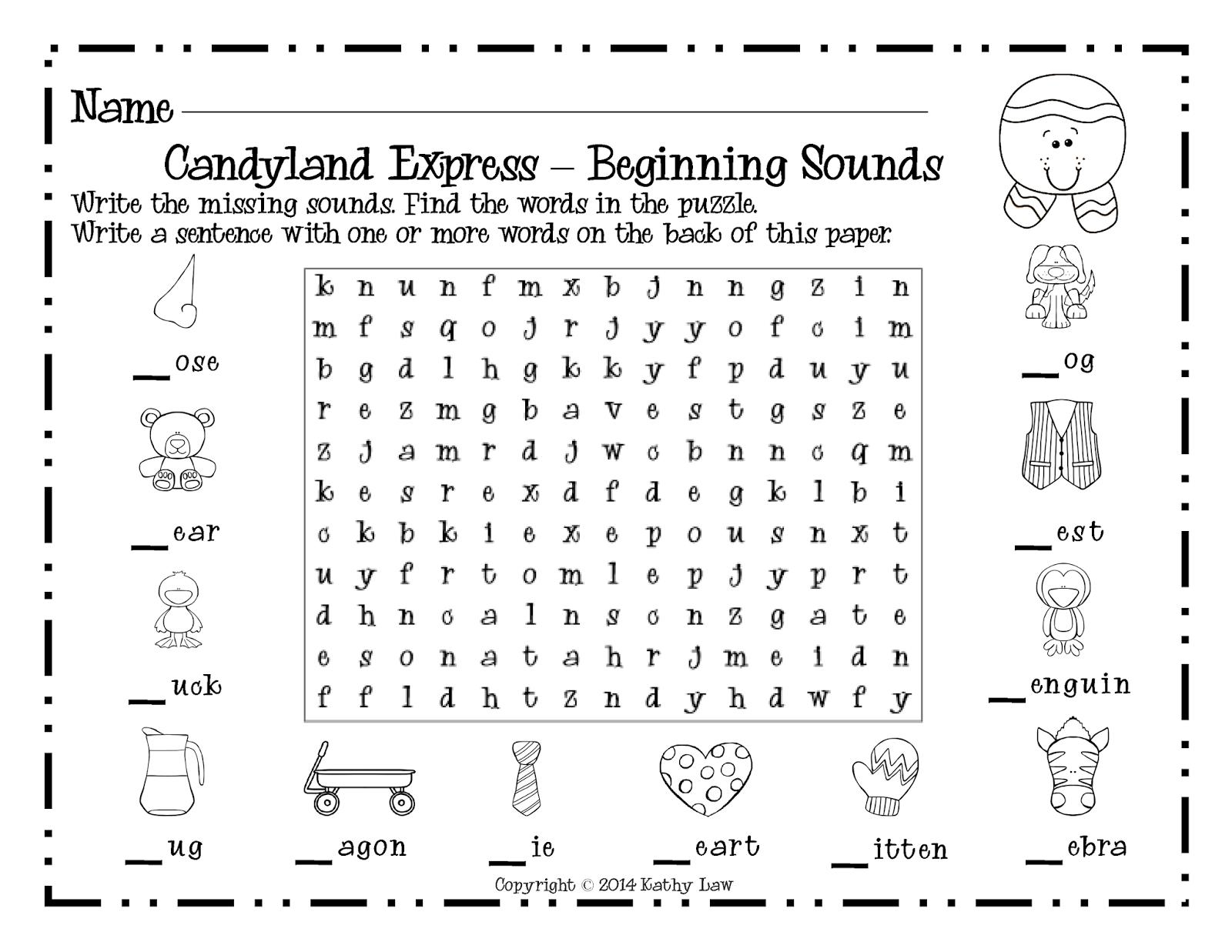 Candyland Beginning And Ending Sounds Short Vowel Sounds
