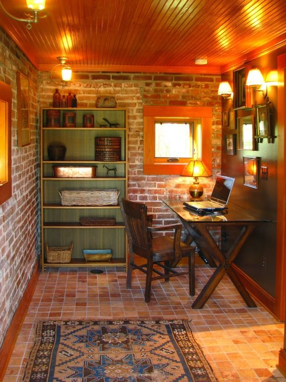 small basement office