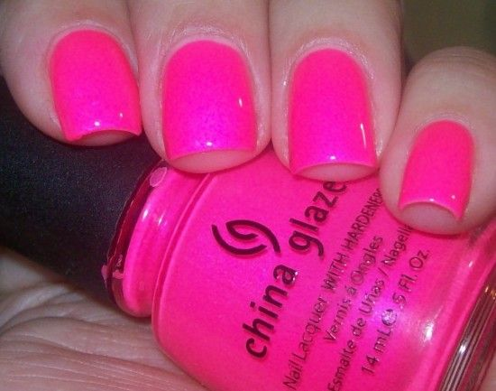 Looking for ridiculously neon pink nail polish! | China glaze, Glaze ...