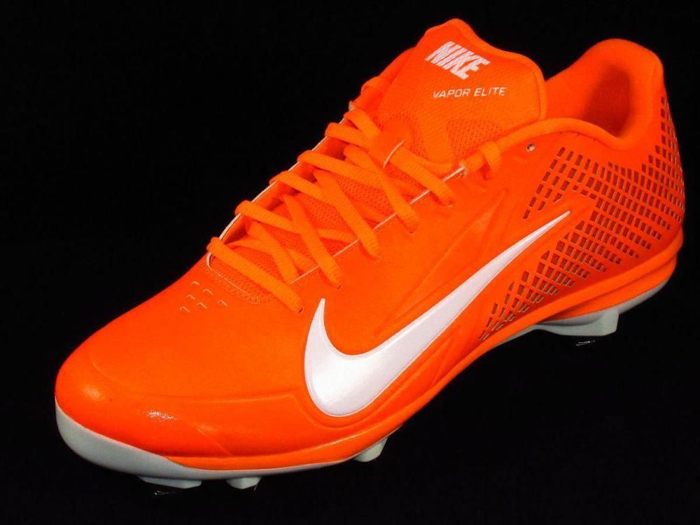cheap for discount 3d1b9 1e4d3 Nike Zoom Vapor Elite Low Metal Baseball Cleats Mens Size 12.5 Orange White   Nike  BaseballCleats