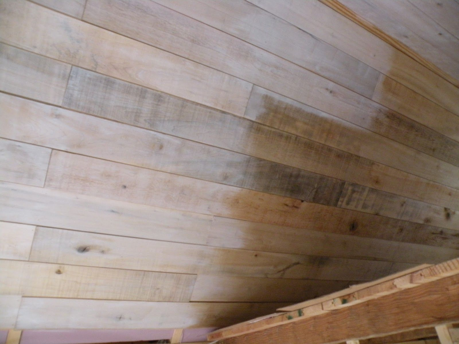 Plywood Plank Ceiling Heres A Picture Of The Difference Between The Unfinished Ceiling