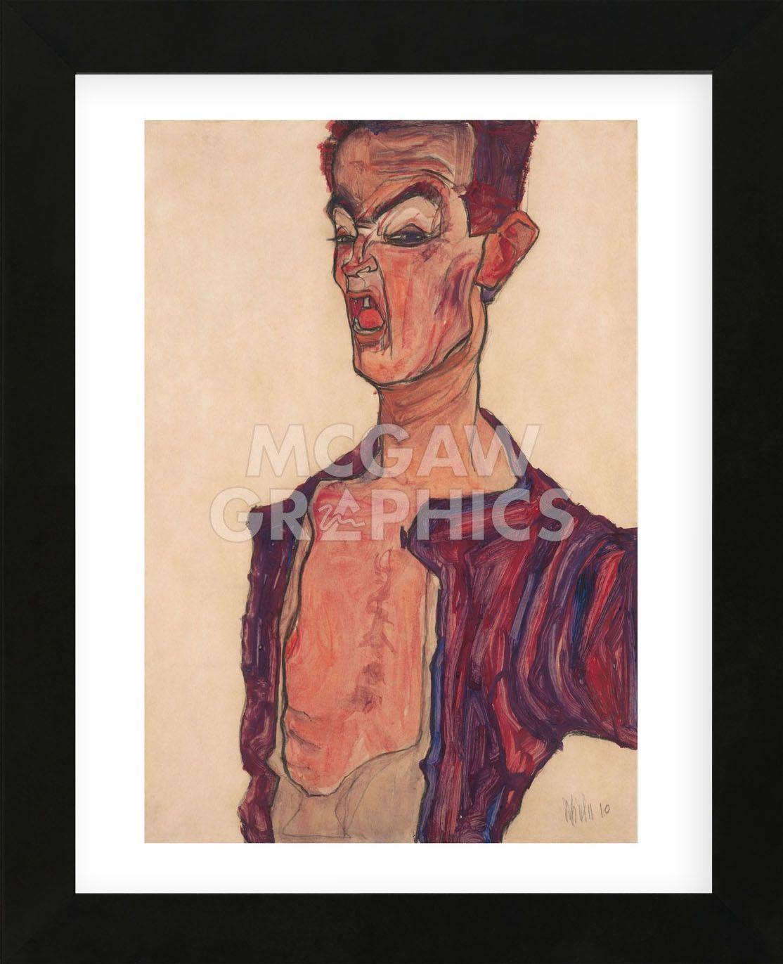Egon Schiele Self Portrait Old Master Art Painting Canvas Art Print