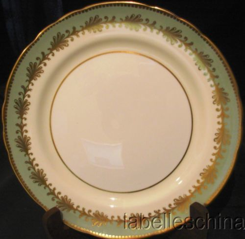 "Aynsley Rutland Nile Green 6.5"" Bread / Side Plate Fine English Bone China 8013 #Aynsley"