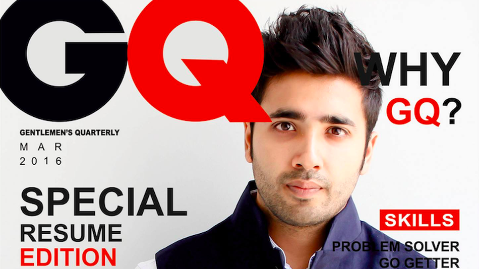 GuyS Stunning Gq Resume Earned Him An Internship Without An