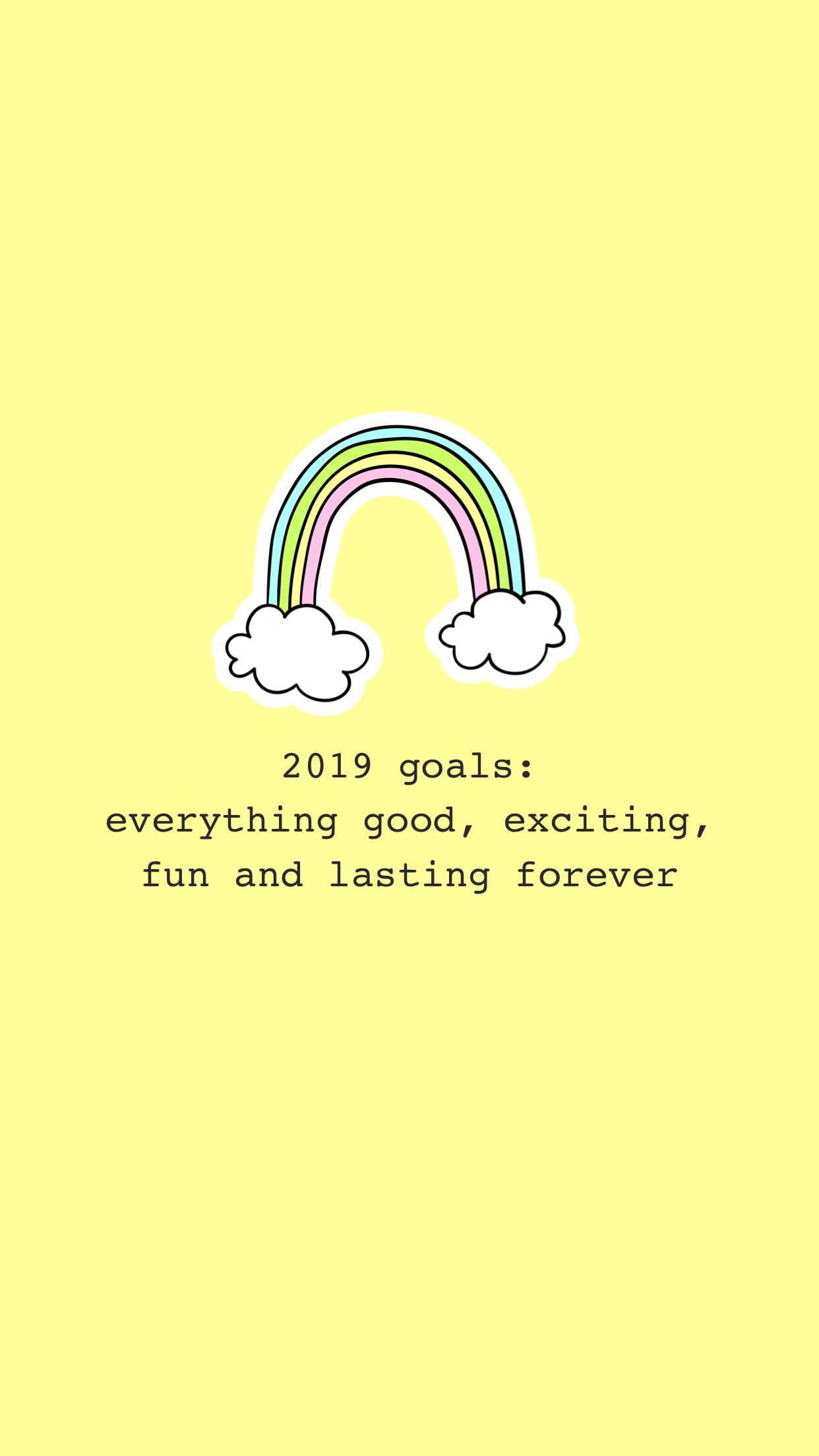 2019 Goals Forever Yellow Theme Tumblr Cool Instagram