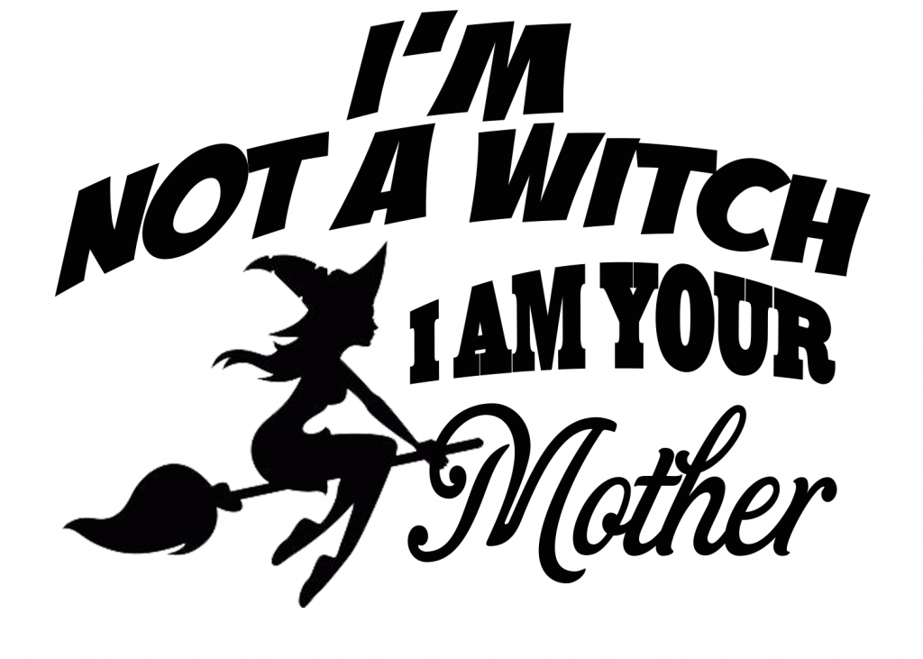 FREE I'm not a Witch SVG File Silhouette cameo vinyl