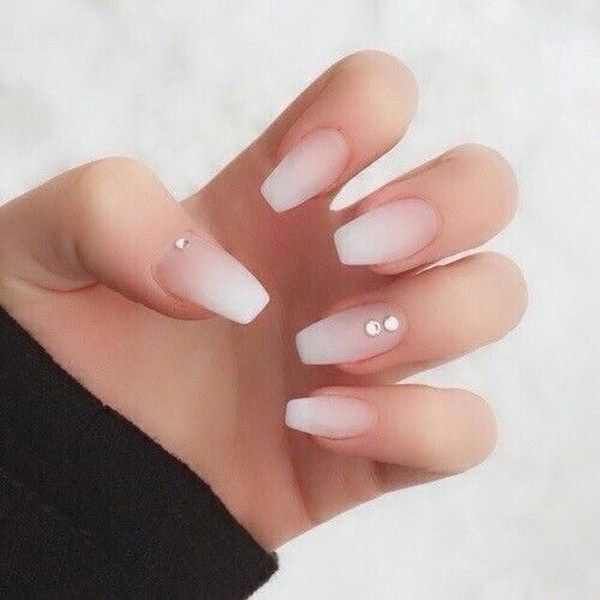 39 Best Natural Coffin Nail Art For Your Style Vialaven Com Neutral Nails Acrylic Diamond Nails Coffin Nails Designs