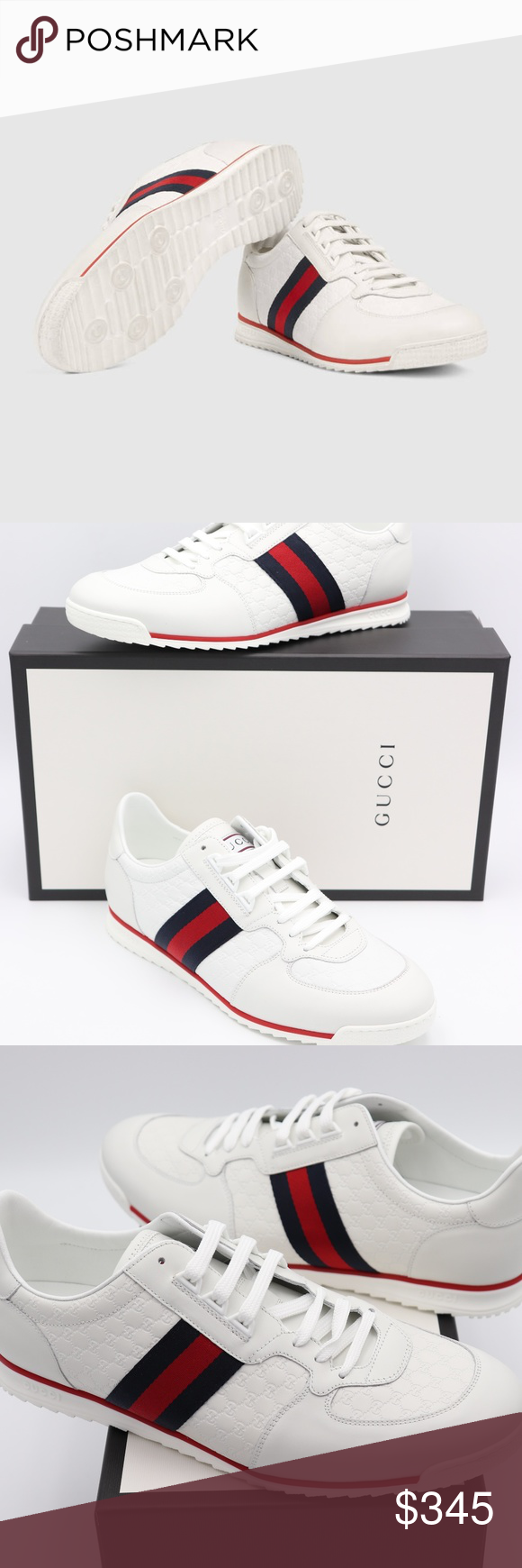 b095b37f1 Gucci Microguccissima Leather Low-top Sneakers NIB Gucci Leather Sneaker  with Web Brand New in