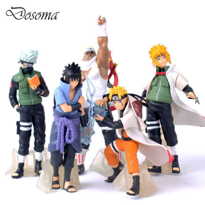 Nuovo Arriva 5 Pz/set Naruto Action Figure Classiche Giocattoli Freddi Naruto Kakashi Sasuke Uzumaki Figura Anime Modello per I Bambini Del Bambino regalo