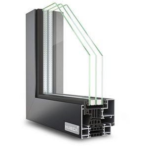 Aluminum window profile thermally insulated glasses for High insulation windows