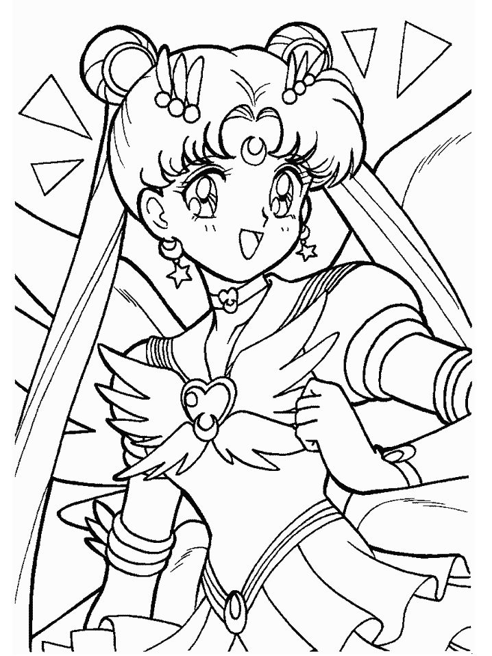 Sailor moon coloring pages (With images) | Moon coloring pages ...