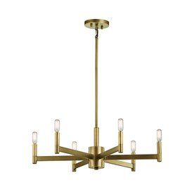 Kichler Lighting Erzo 26-In 6-Light Natural Brass Industrial Candle Ch  sc 1 st  Pinterest & Kichler Lighting Erzo 26-In 6-Light Natural Brass Industrial Candle ...