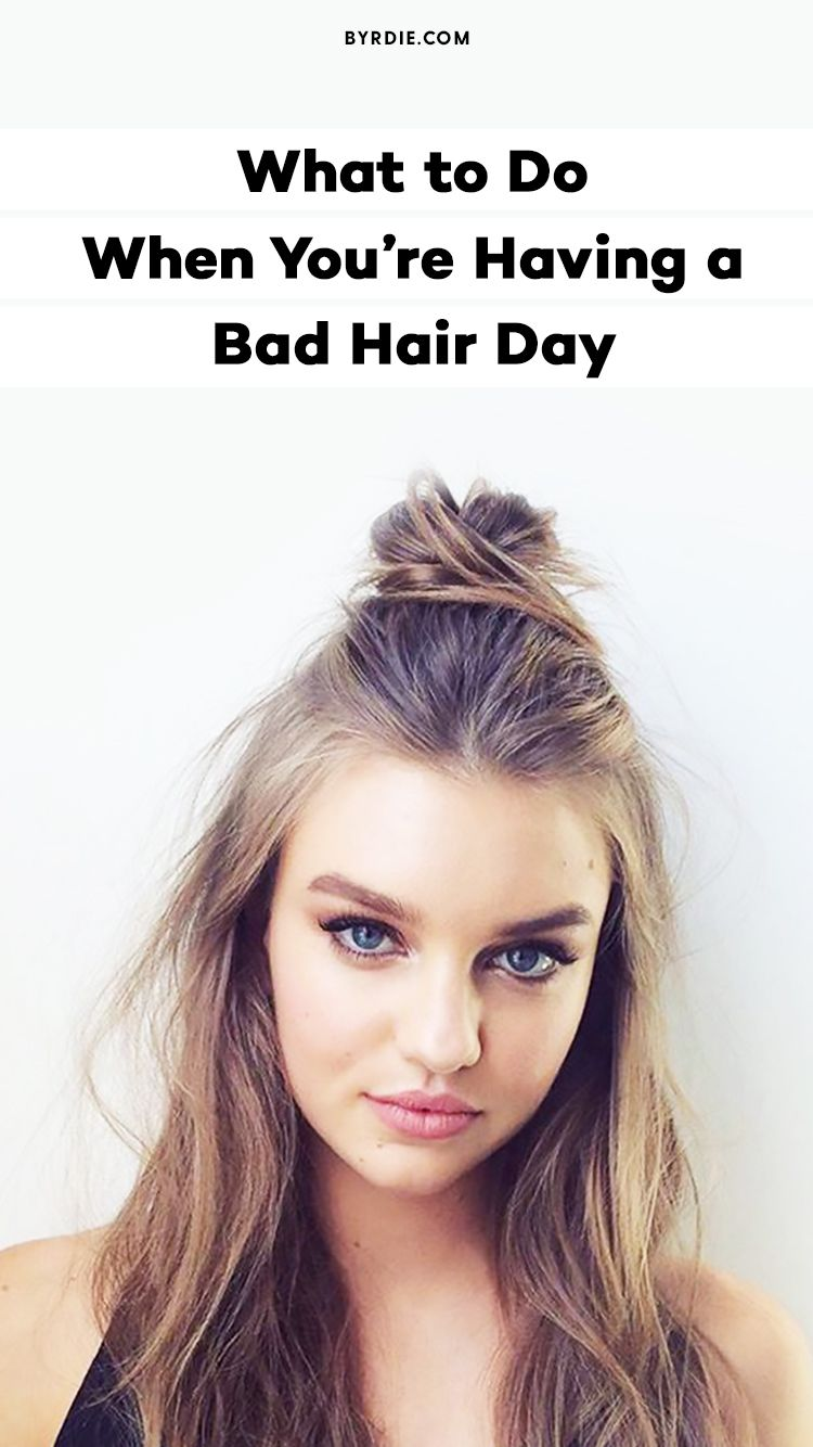 10 Hairstyles To Ensure You Never Have A Bad Hair Day Again Medium Hair Styles Easy Hairstyles Half Bun Hairstyles