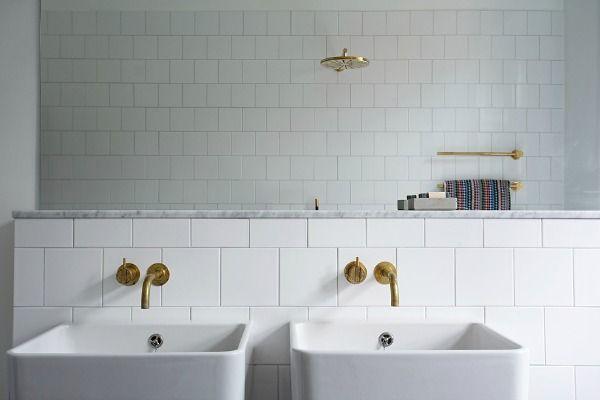 Gouden kraan in de badkamer eenig wonen badkamer pinterest