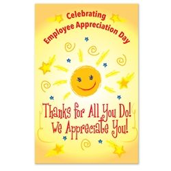 Thanks For All You Do, We Appreciate You! Employee Appreciation Day Theme 11 x 17 Posters (Sold in Packs of 10) Poster, Celebration Poster, Employee Appreciation Day, Recognition Theme Poster, #employeeappreciationideas