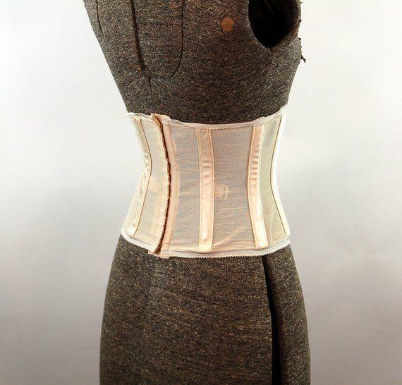 be76660539 1950s corset waist cincher Charmode elastic girdle shapewear Size S ...