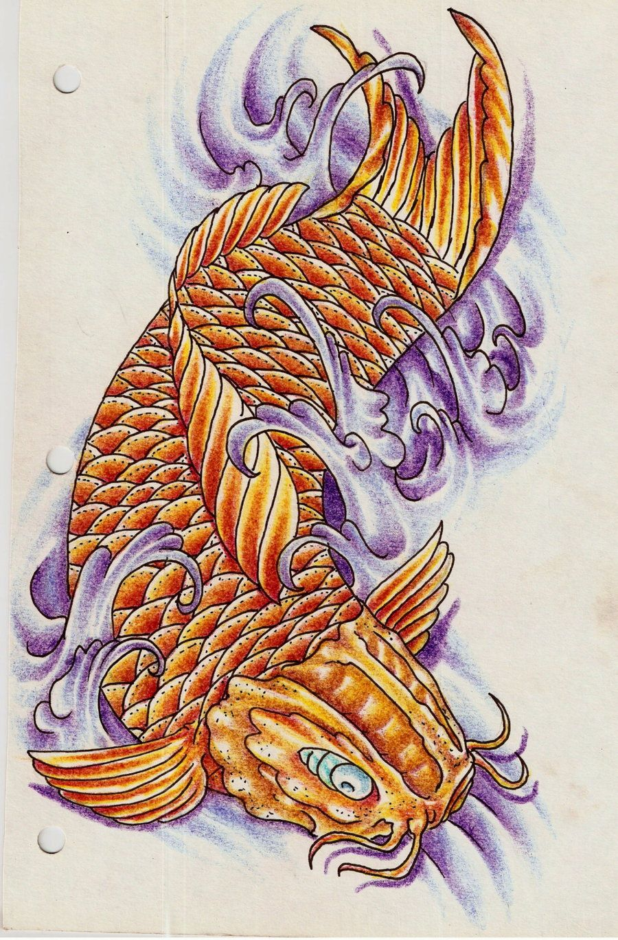 Koi fish dragon tattoo koi fish iv by eltri dragon koi for Best koi fish tattoo