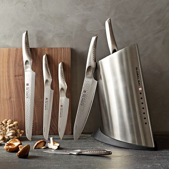 My Favorite Set Global Sai 7 Piece Knife Block Set Williams Sonoma The Right Tools For The