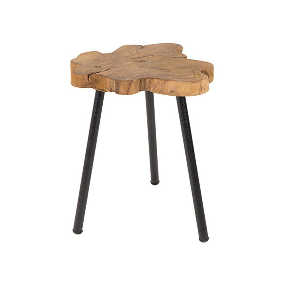 Zuiver Treetop Side Table Teak Metal Side Table Teak Side Table Contemporary Side Tables