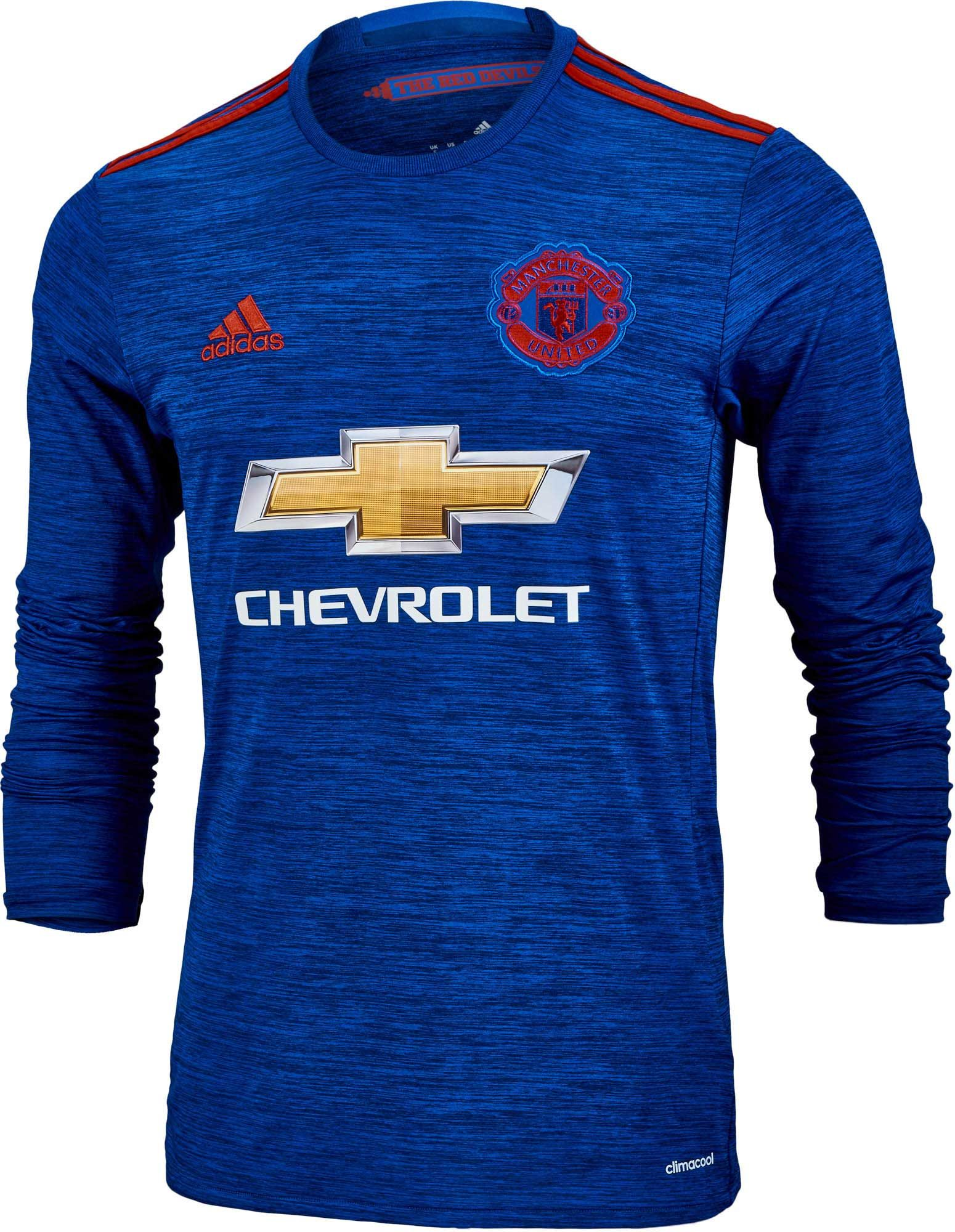 the latest 811ac d72ee adidas Manchester United L/S Away Jersey 2016-17 | Steals ...