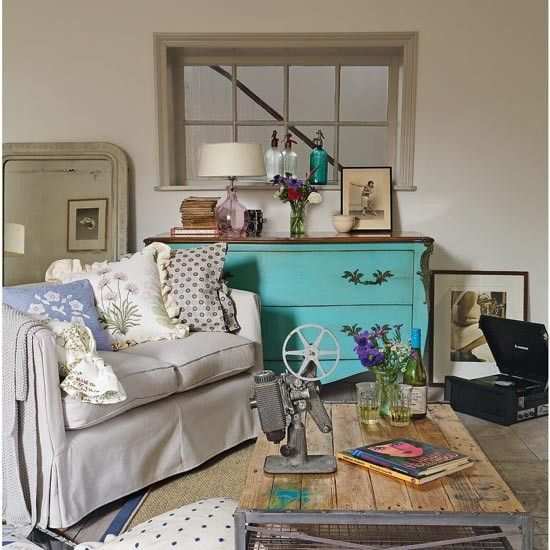 vintage-style country living room | for the home | pinterest