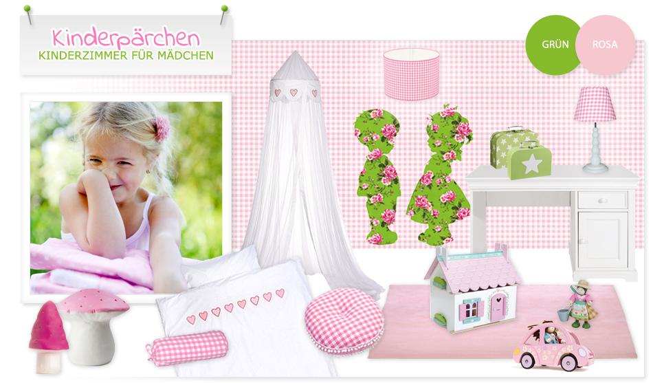 romantisches mädchenzimmer in rosa & grün   kinderzimmer   pinterest - Kinderzimmer Grun Rosa