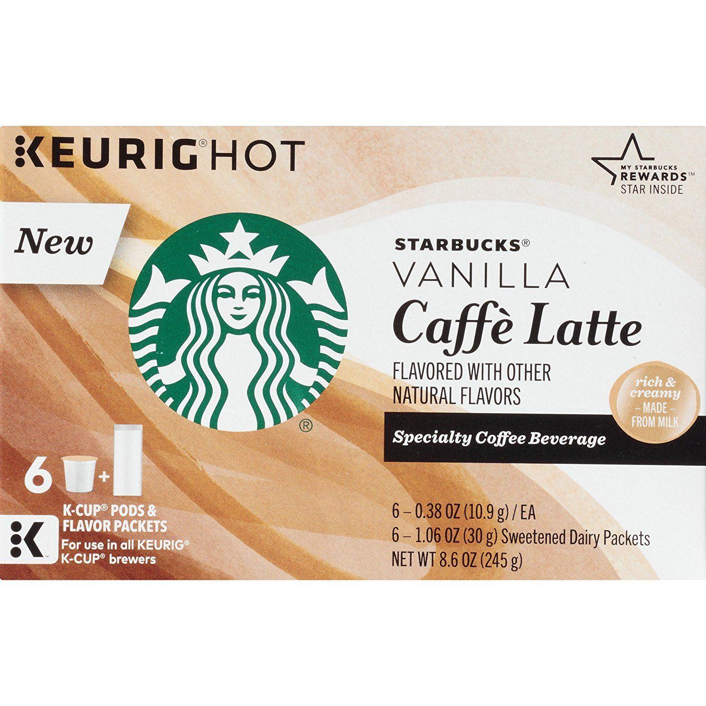 Starbucks Vanilla Caffé Latte Specialty Coffee Beverage K