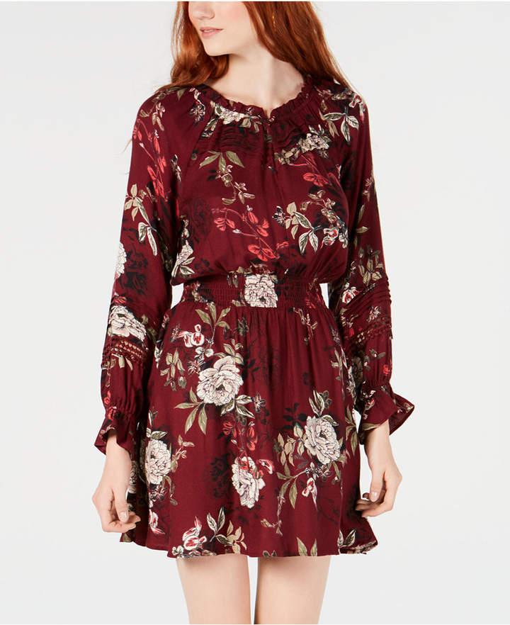 7184cfb33 American Rag Juniors' Floral Print Peasant Dress | Products in 2019 ...