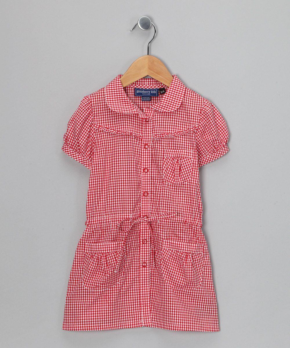 76c4dab11 Red Gingham Shirt Dress - Toddler   Girls