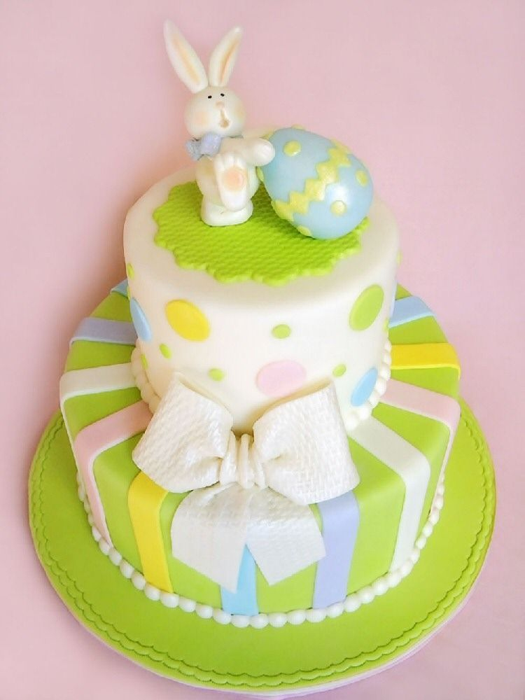 Easter bunny cake. So cute.