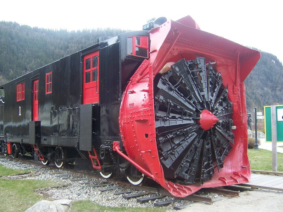Snow Removal Train Skagway Alaska