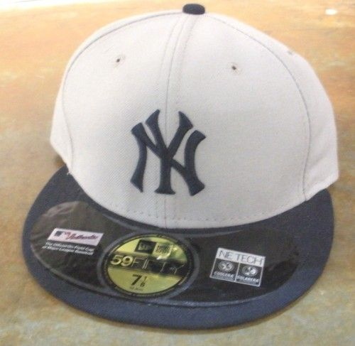 ... spain new new york yankees mlb new era embroidered hat cap lid 59 fifty  gray navy ... ef9f3d6cb8d