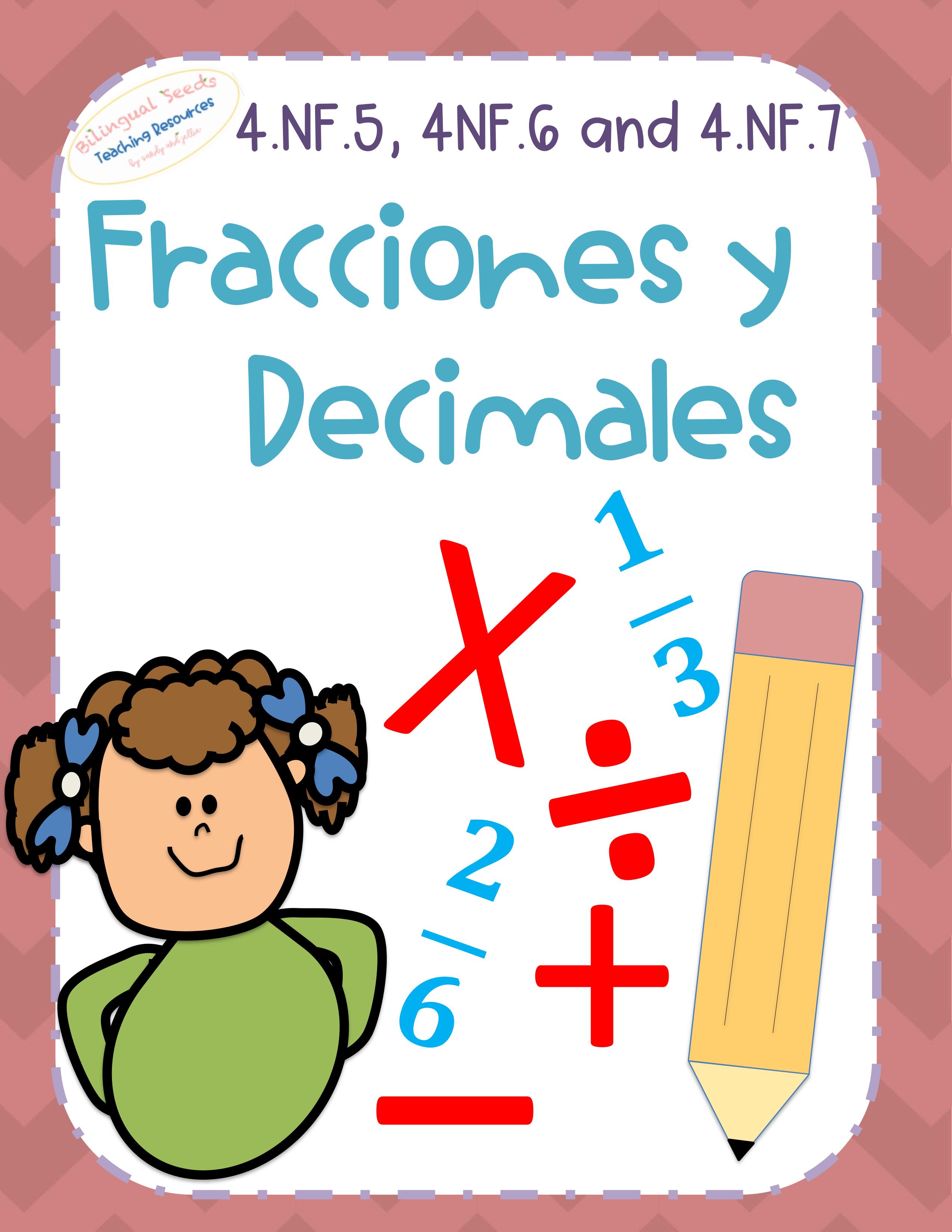 Bundle 4 5 4 6 4 7 Decimales Y Fracciones