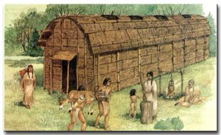 Eastern Cherokee | longhouse is a long, low building made