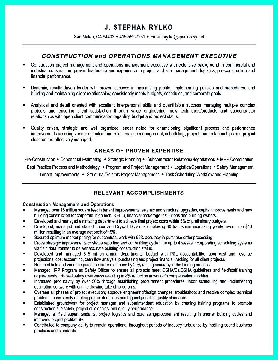 cool Cool Construction Project Manager Resume to Get Applied ...
