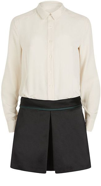 Victoria Beckham Button-through Shirtdress - Lyst