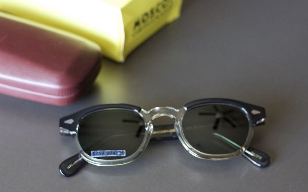 Moscot Originals LEMTOSH Sunglasses Col. Black Crystal Sz. Medium MSRP $259  NYC