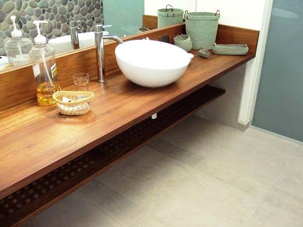 Ba o mesada madera buscar con google dise os - Muebles de bano de madera ...