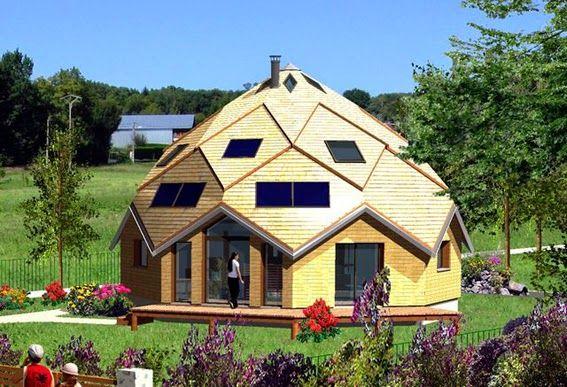 Купольный дом из треугольников