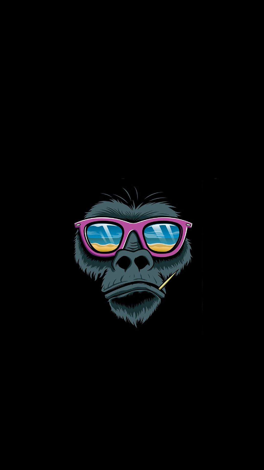 Monkey #iPhone #iPad #wallpaper | iPhone wallpapers... | Art, Monkey art, Pop art