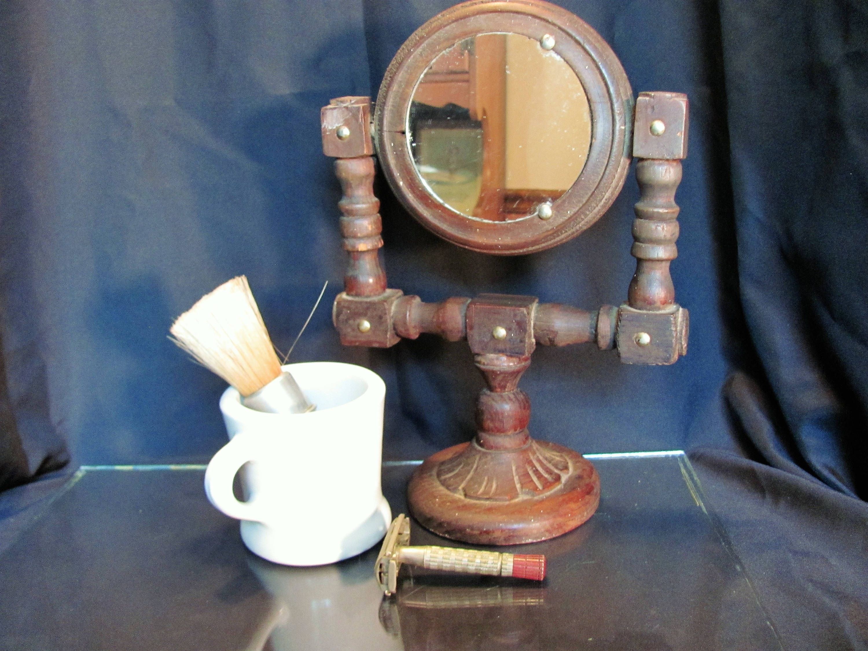 Shaving mirror rubberset shaving brush hall shaving mug safety