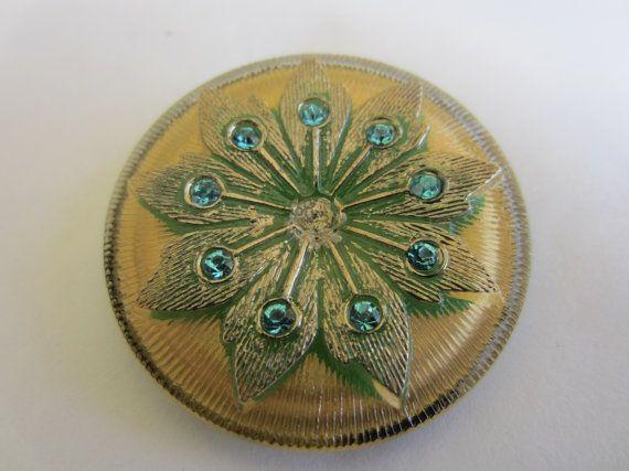 Vintage ButtonExtra large Vintage Czech Glass by pillowtalkswf, $6.25