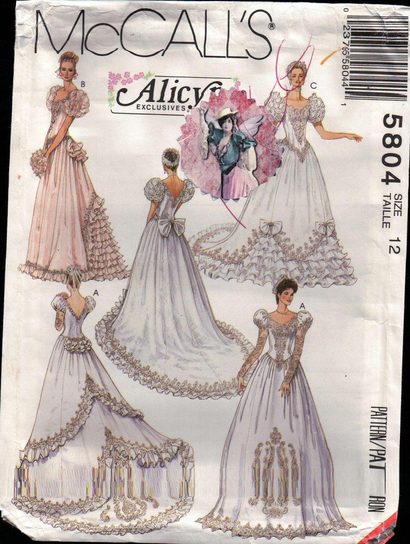 McCall\'s 5804 | Vintage Wedding | Pinterest | Wedding dress patterns ...