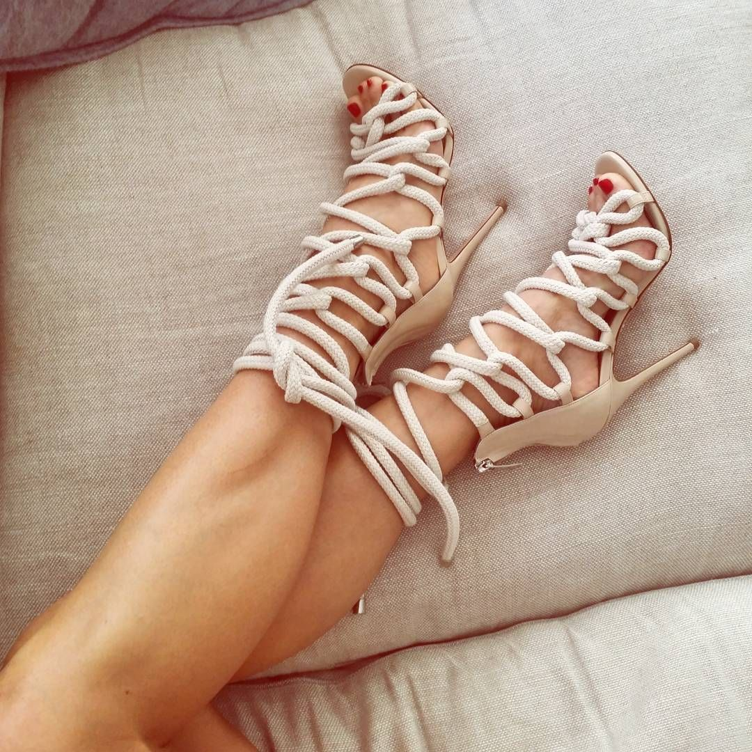 Crushing Rope Lace up Heels by monika_chiang