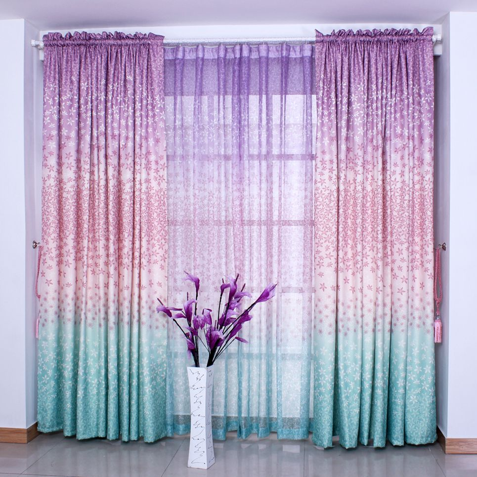 22 ombre picture curtains