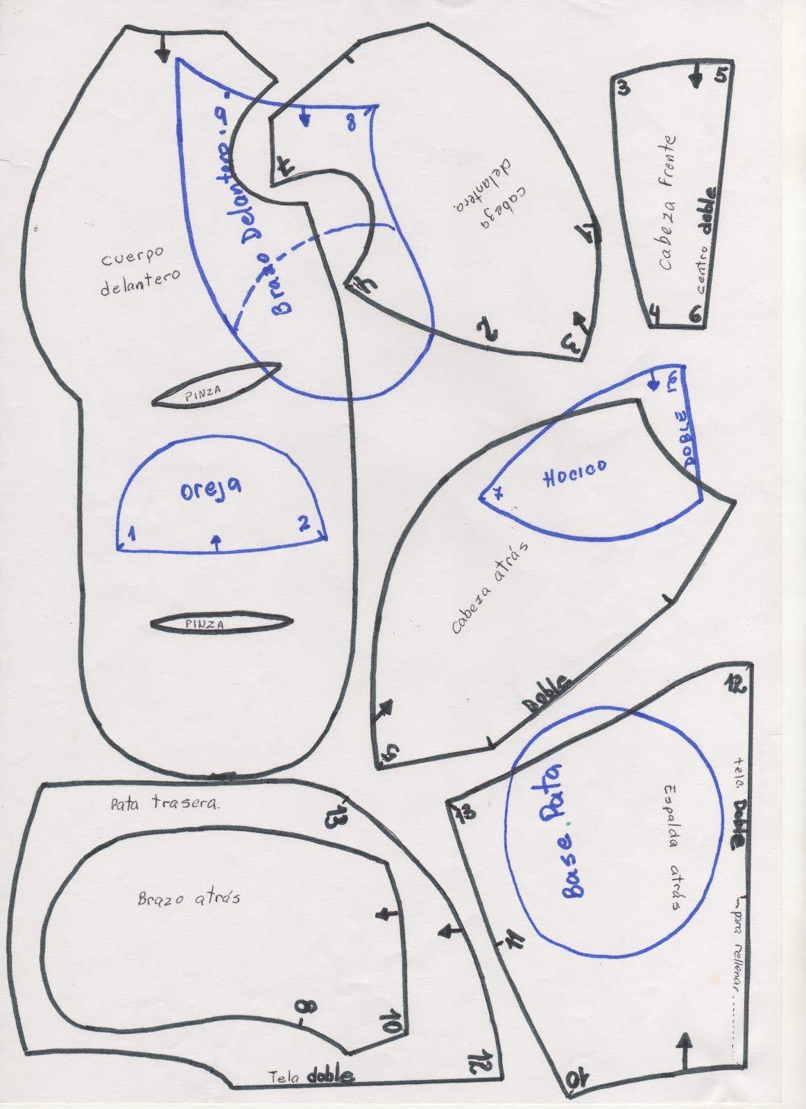 Oso de peluche Este oso esta hecho según las instrucciones del paso ...