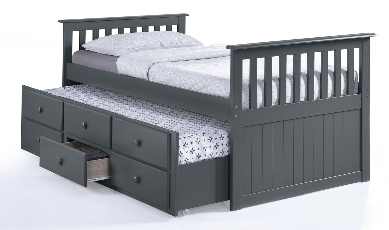 Marco Island Captain S Bed With Trundle Bed And Drawers
