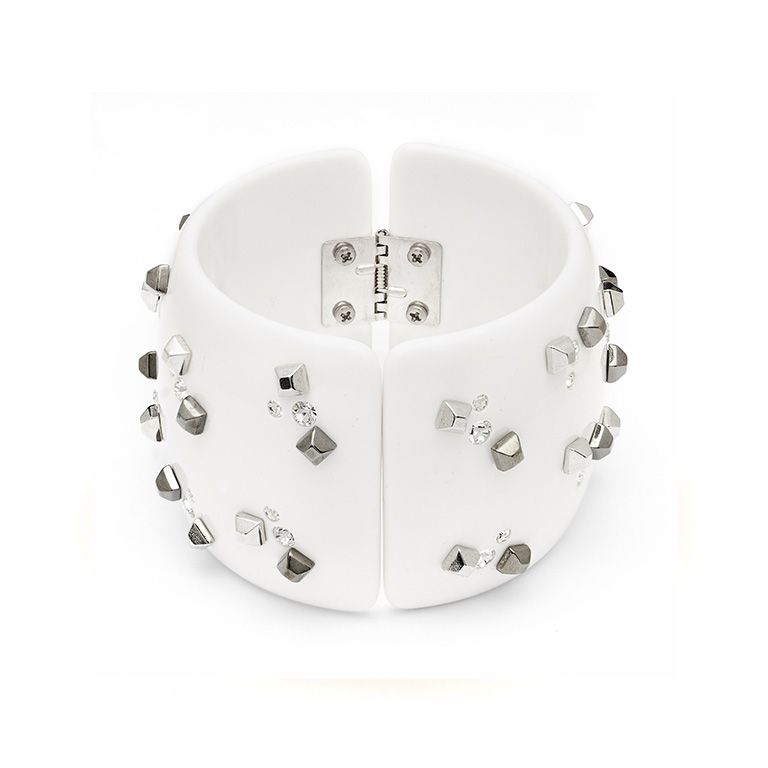 """Goccia"" Cuff Bracelet with Swarovski rocks  