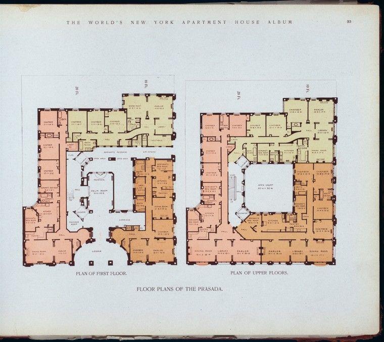 1910 floorplans of the prasada apartment building floor