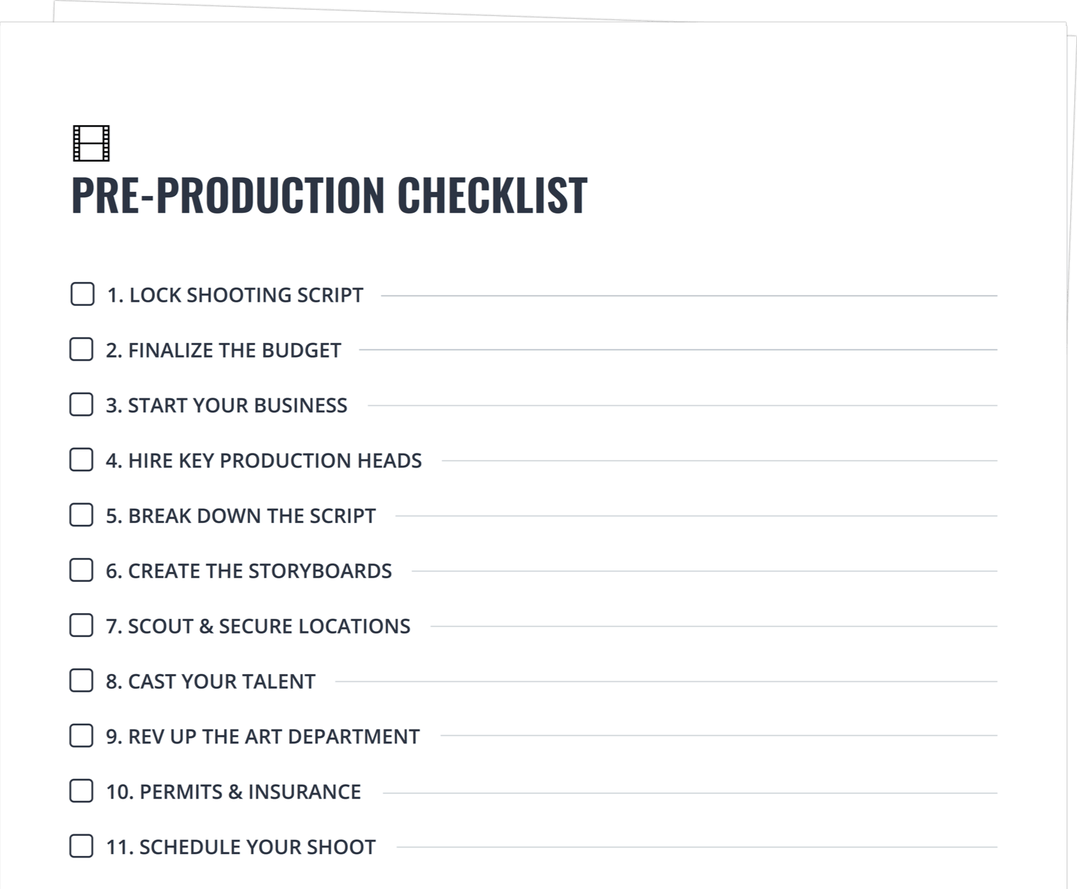 How To Produce A Movie The Pre Production Process Explained
